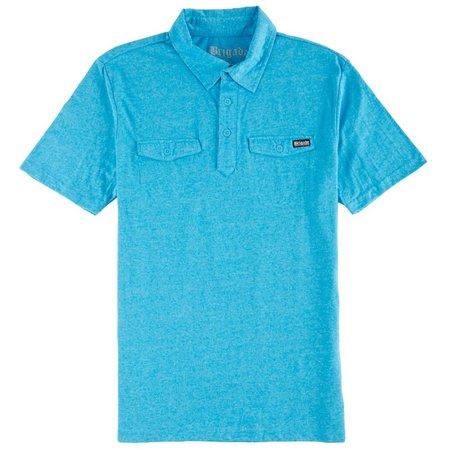 Brigade Mens Solid Pocket Polo Shirt