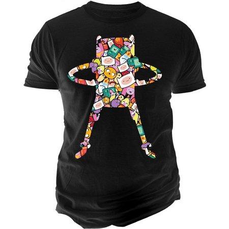 Adventure Time Mens Finn Pattern T-Shirt
