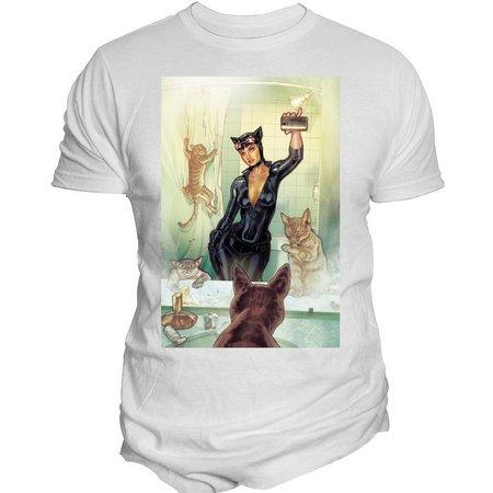 DC Comics Mens Catwoman Selfie T-Shirt