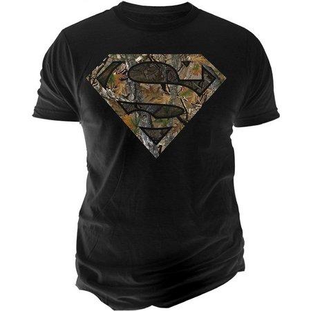 DC Comics Mens Superman Camo Logo T-Shirt