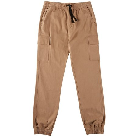 Hollywood Mens Stretch Cargo Jogger Pants