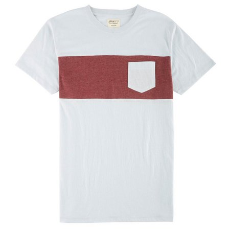 Alpha Beta Mens Blue Stripe Pocket T-Shirt