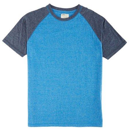 Alpha Beta Mens Heather Raglan T-Shirt