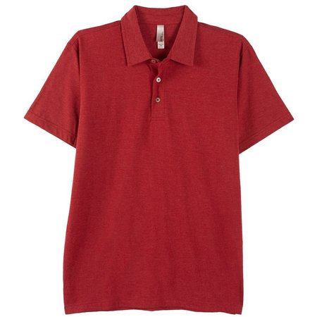 MTL Mens Solid Heather Polo Shirt