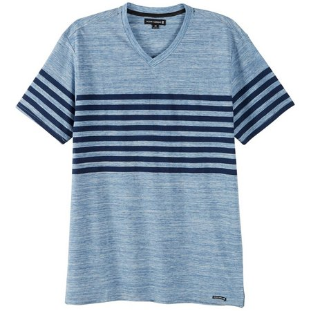 Ocean Current Mens Martinez Stripe V-Neck T-Shirt