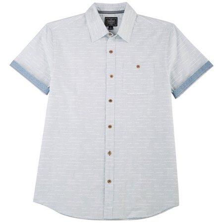 New! Company 81 Mens Dotted Short Sleeve Shirt