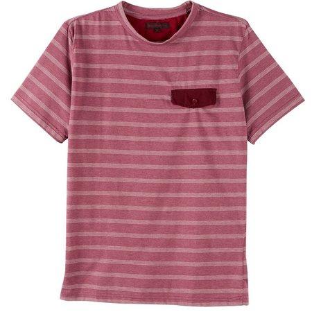 Royal Testimony Mens Striped Pocket T-Shirt