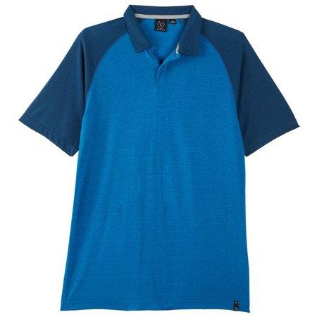 Burnside Mens Performance Raglan Polo Shirt