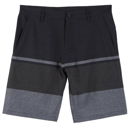 Burnside Mens Black Stripe Hybrid Shorts