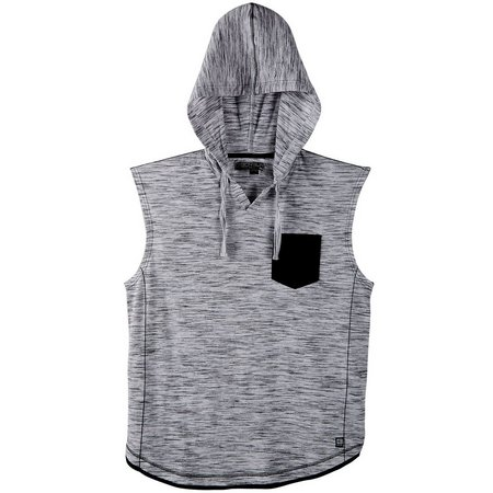 Distortion Mens Inject Hooded Muscle Tank Top
