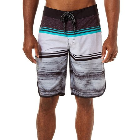 Distortion Mens Multi Stripe Boardshorts