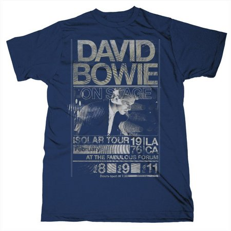 David Bowie Mens Isolar Tour T-Shirt