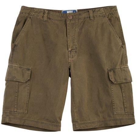 MBX Mens Garmet Dyed Cargo Shorts