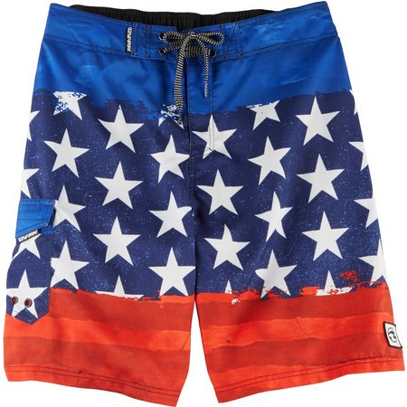 Ocean Current Mens Banner Boardshorts