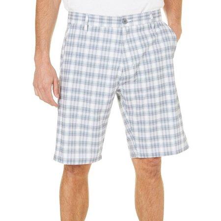 Burnside Mens Grey Plaid Hybrid Shorts