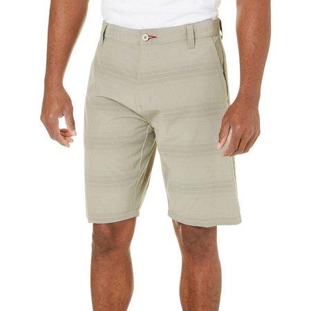 Burnside Mens Fine Stripe Hybrid Shorts
