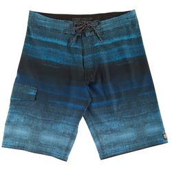 Distortion Mens Navy Fade Boardshorts