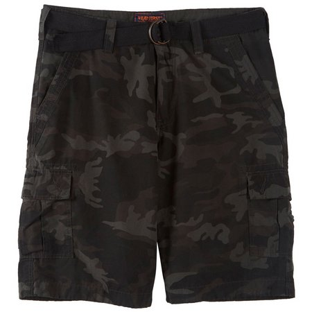Wearfirst Mens Black Camo Cargo Shorts