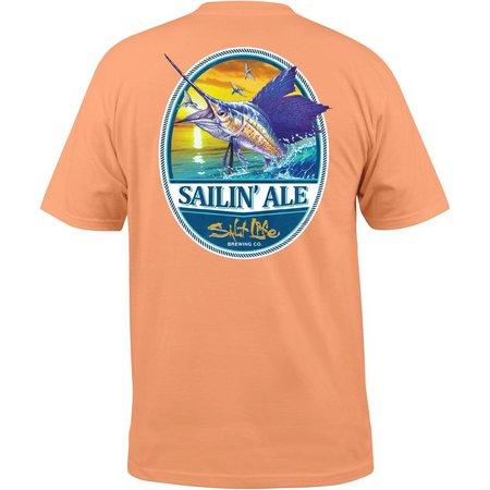 Salt life mens sailing ale pocket t shirt bealls florida for Life is good sailing t shirt