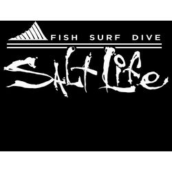 Salt Life White Fin Forward Decal