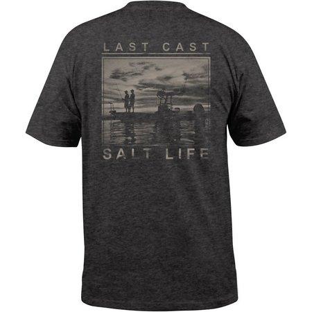 Salt Life Mens Last Cast Charcoal T-Shirt