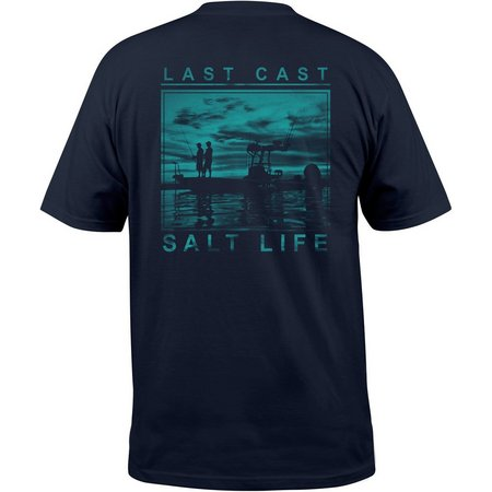 Salt Life Mens Last Cast Navy T-Shirt