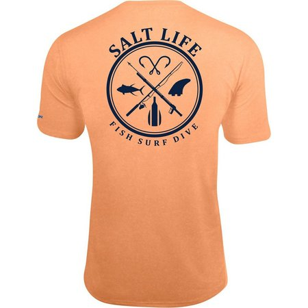 New! Salt Life Mens Fish Surf Dive T-Shirt