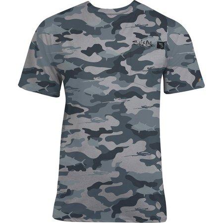 Salt Life Mens Dark Tides SLX Uvapor T-Shirt