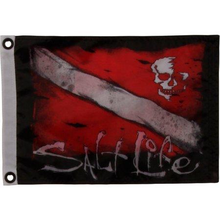 Salt Life Dive & Skull Small Flag