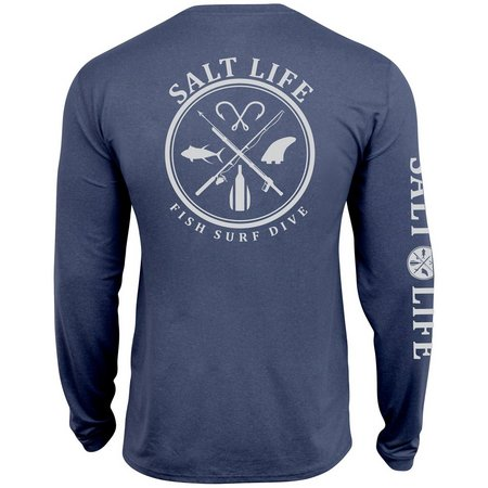 Salt Life Mens UVapor SLX Long Sleeve T-Shirt