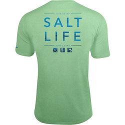 New! Salt Life Mens Water Icons T-Shirt