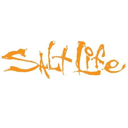 Salt Life Orange Signature Decal