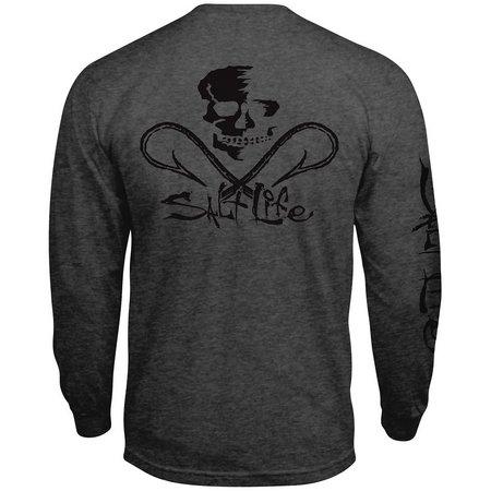 Salt Life Mens Skull & Hooks Long Sleeve