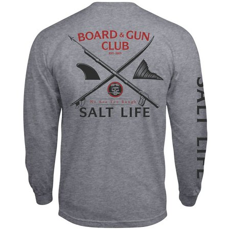 Salt Life Mens Grey Boards & Guns T-Shirt