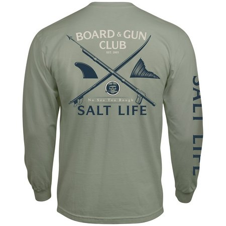 Salt Life Mens Boards & Guns Pocket T-Shirt