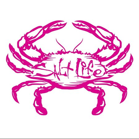 Salt Life Pink Salty Crab Decal