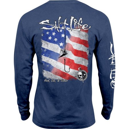 Salt Life Mens Hook Line & Sinker Flag