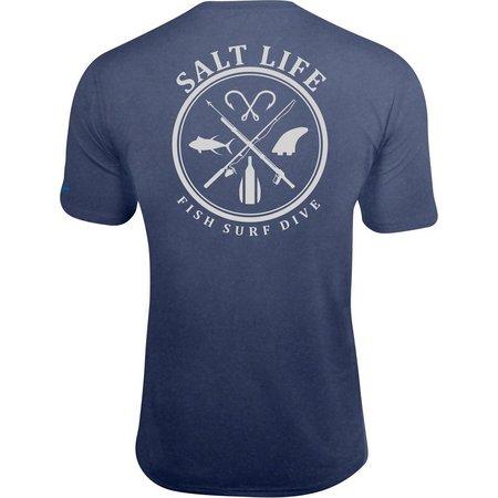 Salt Life Mens Salt Fix SLX UVapor T-Shirt