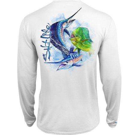 Salt Life Mens Ocean Slam Uvapor Pocket T-Shirt
