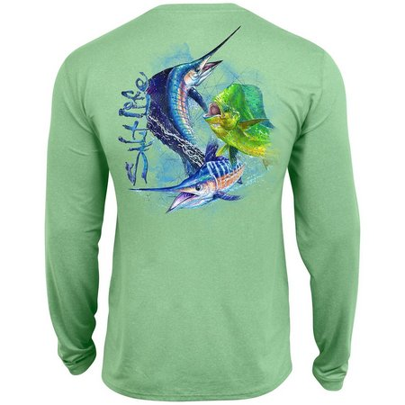 Salt Life Mens Ocean Slam Uvapor Pocket T-Shirt