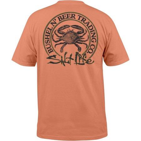 Salt Life Mens Bushel Beer Pocket T-Shirt