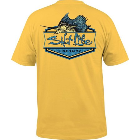 Salt Life Mens Sailfish Badge Pocket T-Shirt