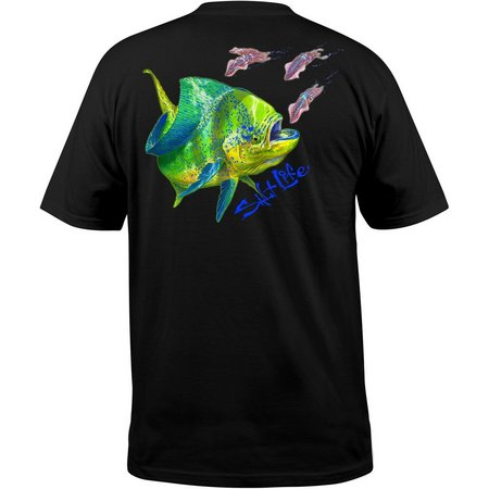 Salt Life Mens Dark Dorado Chase Pocket T-Shirt