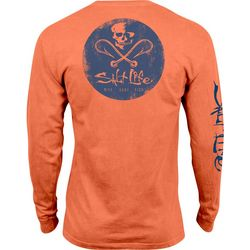 Salt Life Mens Hooked Badge Salt Wash T-Shirt