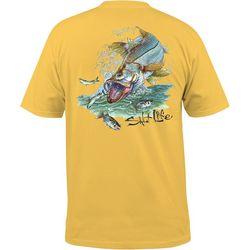 Salt Life Mens Snook Explosion T-Shirt
