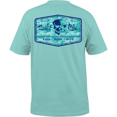 Salt Life Mens Blue At Ease T-Shirt