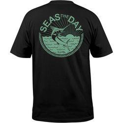 Salt Life Mens Black Seas The Day T-Shirt