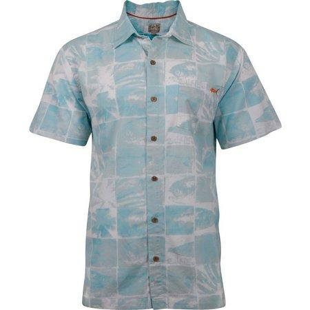 Salt Life Mens Trippy Seas Woven Shirt