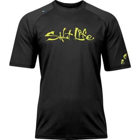 Salt Life Mens Iconic Short Sleeve Aquashirt