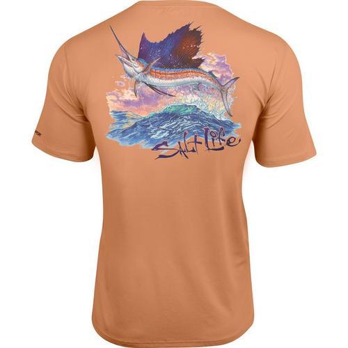 Salt Life Mens Full Sail Slx Performance T Shirt Bealls